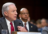 "United States Attorney General Jeff Sessions gives testimony before the US Senate Select Committee on Intelligence to  ""examine certain intelligence matters relating to the 2016 United States election"" on Capitol Hill in Washington, DC on Tuesday, June 13, 2017.  In his prepared statement Attorney General Sessions said it was an ""appalling and detestable lie"" to accuse him of colluding with the Russians.<br /> Credit: Ron Sachs / CNP<br /> (RESTRICTION: NO New York or New Jersey Newspapers or newspapers within a 75 mile radius of New York City)"