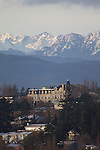 Port Townsend, Olympic Mountains, Historic Victorian architecture, Manresa Castle, 1892, Washington State, State Park, Pacific Northwest,