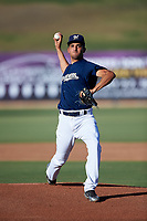 AZL Brewers Blue starting pitcher Moises Ruiz (31) during an Arizona League game against the AZL Athletics Gold on July 2, 2019 at American Family Fields of Phoenix in Phoenix, Arizona. AZL Athletics Gold defeated the AZL Brewers Blue 11-8. (Zachary Lucy/Four Seam Images)
