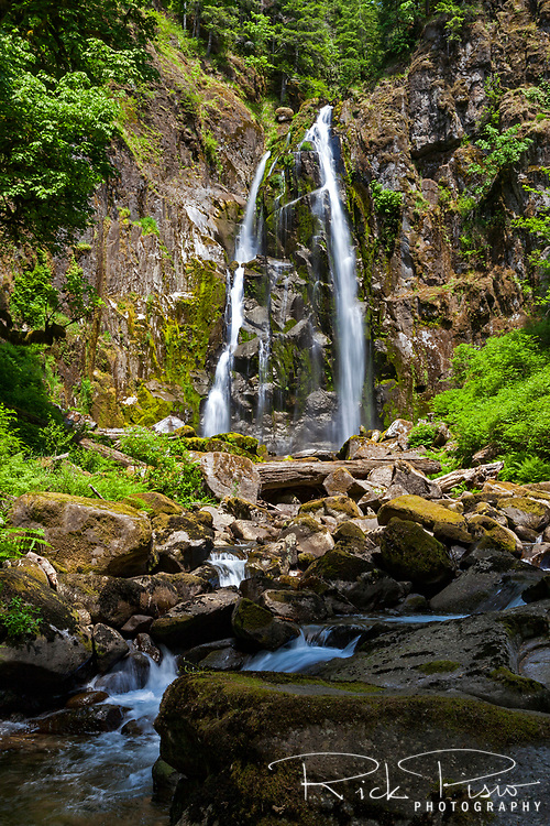 North Fork Falls in Oregon's Suislaw National Forest near the town of Reedsport.