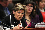 Attorney Gloria Allred and Assemblywoman Irene Bustamante Adams, D-Las Vegas, right, urge lawmakers to support a bill that would remove the criminal statue of limitations for sexual assault cases in Nevada during a hearing at the Legislative Building in Carson City, Nev., on Friday, March 13, 2015. <br /> Photo by Cathleen Allison