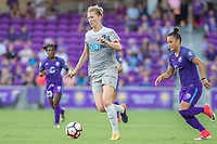 Orlando, FL - Sunday May 14, 2017: Samantha Mewis during a regular season National Women's Soccer League (NWSL) match between the Orlando Pride and the North Carolina Courage at Orlando City Stadium.