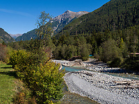 Inn bei  Sur En bei Sent, Scuol, Unterengadin, Graub&uuml;nden, Schweiz, Europa<br /> river Inn near Sent Sur En, Scuol Valley, Engadine, Grisons, Switzerland