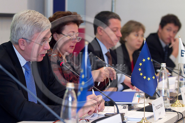 TURIN - ITALY - 22 NOVEMBER 2011 -- European Training Foundation (ETF) Governing Board Meeting -- fron Left to Right Jan Truszczy?ski; Madlen Serban, Joao Delgado,  Danuta Czarnecka --  PHOTO: Alberto RAMELLA /  EUP-IMAGES