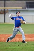 Andrew LaPrade (3) of Rustburg, Virginia during the Baseball Factory All-America Pre-Season Rookie Tournament, powered by Under Armour, on January 13, 2018 at Lake Myrtle Sports Complex in Auburndale, Florida.  (Michael Johnson/Four Seam Images)