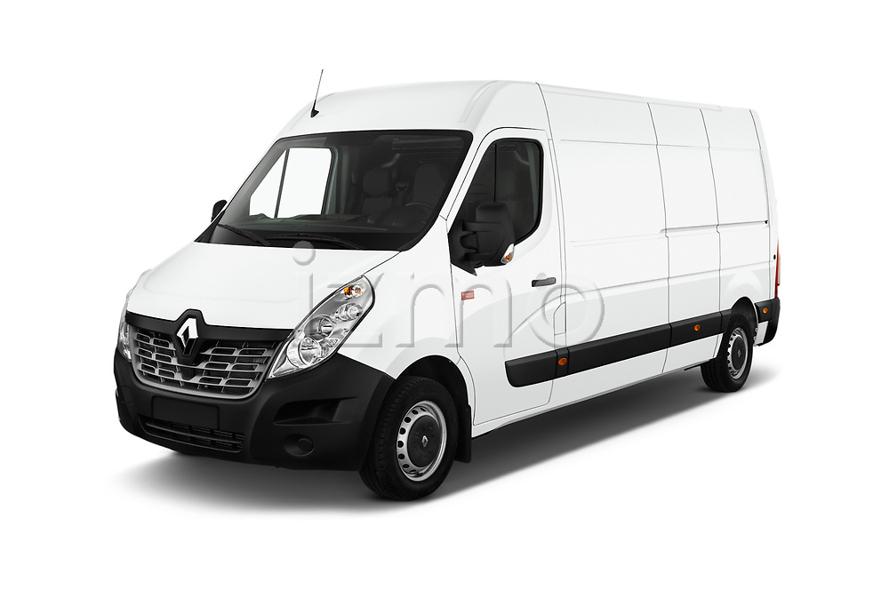 2019 Renault Master L3h2 4 Door Cargo Van angular front stock photos of front three quarter view