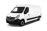 2019 Renault Master L3h2 4 Door Cargo Van angular front stock photos of front three quarter view
