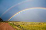 Double rainbow in rural Montana near Dillon