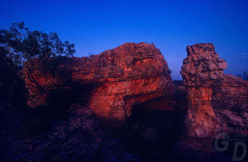 "Rare Photos from the ""Ruined City"" deep in Arnhem Land is a sacret site for the local Aboriginal tribe from Roper River, no outsiders are normally allowed to venture into this area. Northern Territory Australia"