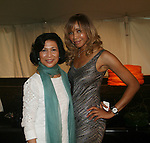 Chair of the RFL Foundation Loida N. Lewis and Tia Walker attend &quot;Beach Glamour in the Hamptons, A Benefit Party<br />