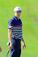 Jordan Spieth US Team on the 10th green during Thursday's Practice Day of the 41st RyderCup held at Hazeltine National Golf Club, Chaska, Minnesota, USA. 29th September 2016.<br /> Picture: Eoin Clarke | Golffile<br /> <br /> <br /> All photos usage must carry mandatory copyright credit (&copy; Golffile | Eoin Clarke)