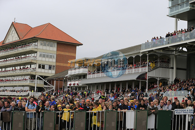 York Racecourse hosts the start of Stage 2 of the 2014 Tour de France running 200km from York to Sheffield. 6th July 2014.<br /> Picture: Eoin Clarke www.newsfile.ie