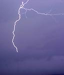 Lightning hits WAFF tower 2-5-04.  Bob Gathany photographer.