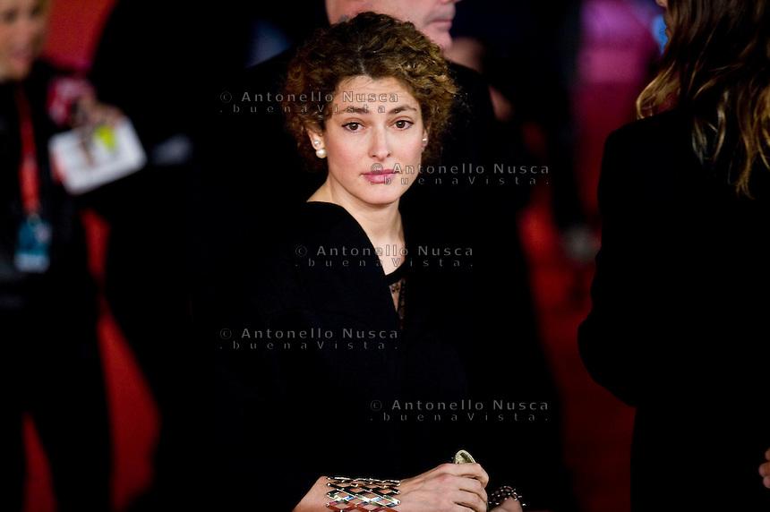 Ginevra Elkann arriva al red carpet per la proiezione del film Dallas Buyers Club. Ginevra Elkann attends 'Dallas Buyers Club' Premiere during The 8th Rome Film Festival.