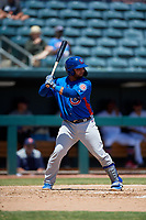 Tennessee Smokies Erick Castillo (37) at bat during a Southern League game against the Jacksonville Jumbo Shrimp on April 29, 2019 at Baseball Grounds of Jacksonville in Jacksonville, Florida.  Tennessee defeated Jacksonville 4-1.  (Mike Janes/Four Seam Images)