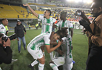 BOGOTÁ - COLOMBIA, 29-01-2020:Gustavo Torres del Atlético Nacional  celebra después de anotar el primer gol de su equipo partido entre La Equidad y Atlético Nacional por la fecha 2 de la Liga BetPlay I 2020 jugado en el estadio Nemeso Camacho El Campín de la ciudad de Bogotá. / Gustavo Torres of Atletico Nacional  celebrates after scoring the first goal of his team during match between La Equidad and Atletico Nacional  for the date 2 as part of BetPlay League I 2020 played at Nemesio Camacho El Campin stadium in Bogota.Photo: VizzorImage / Felipe Caicedo / Staff