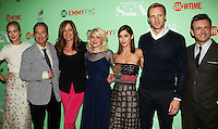 "NORTH HOLLYWOOD, CA, USA - APRIL 29: Caitlin Fitzgerald, Beau Bridges, Allison Janney, Annaleigh Ashford, Lizzy Caplan, Teddy Sears, Michael Sheen at Showtime's ""Masters Of Sex"" Special Screening And Panel Discussion held at the Leonard H. Goldenson Theatre on April 29, 2014 in North Hollywood, California, United States. (Photo by Celebrity Monitor)"