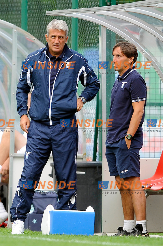 Vladimir Petkovic e Antonio Manicone Lazio.Auronzo di Cadore 14/7/2012.Football Calcio 2012 / 2013 .Amichevole Friendly Match.SS Lazio Vs Auronzo di Cadore.Foto Insidefoto.
