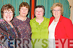 LUNCEON: Attending the Kerry IFA  Farm Family Fundraising lunch for Talbot Grove and Pirta House, Castleisland in the River Island Hotel, Castleisland on Monday l-r: Ann Cronin and Kitty Brennan (Killarney), Betty Herlihy (Gneevegulla) and Phylis McLoughlin (Tralee).