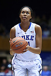 30 October 2014: Duke's Azura Stevens. The Duke University Blue Devils hosted the Limestone College Saints at Cameron Indoor Stadium in Durham, North Carolina in an NCAA Women's Basketball exhibition game. Duke won the game 100-33.