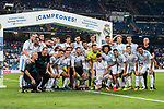 Players of Real Madrid celebrates winning the Santiago Bernabeu Trophy 2017 match between Real Madrid and ACF Fiorentina at the Santiago Bernabeu Stadium on 23 August 2017 in Madrid, Spain. Photo by Diego Gonzalez / Power Sport Images