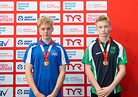 Picture by Allan McKenzie/SWpix.com - 05/08/2017 - Swimming - Swim England National Summer Meet 2017 - Ponds Forge International Sports Centre, Sheffield, England - Harry Andrew & Daniel Day take bronze in the Mens 15yrs & 13/14yrs 100m Backstroke finals respectively.
