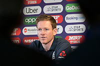 Eoin Morgan (England) talks to the media during a Press Conference at Edgbaston Stadium on 10th July 2019