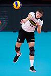 16.09.2019, Lotto Arena, Antwerpen<br />Volleyball, Europameisterschaft, Deutschland (GER) vs. …sterreich / Oesterreich (AUT)<br /><br />Aufschlag / Service Ruben Schott (#3 GER)<br /><br />  Foto © nordphoto / Kurth