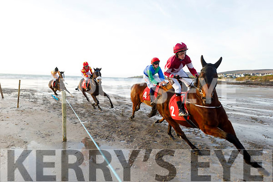 Race action from the Ballyheigue Races on New Years Day.