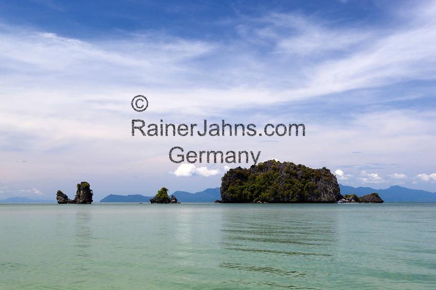 Malaysia, Pulau Langkawi: Tanjung Rhu beach on NE of island | Malaysia, Pulau Langkawi: Tanjung Rhu beach im Nordosten der Insel