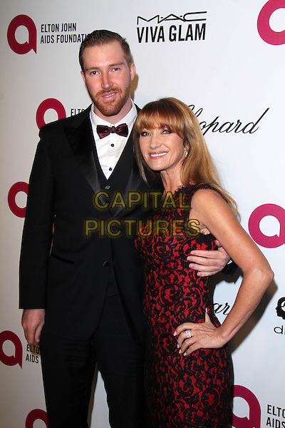 WEST HOLLYWOOD, CA - March 02: Jane Seymour and son at the 22nd Annual Elton John AIDS Foundation Oscar Viewing Party Arrivals, Private Location, West Hollywood,  March 02, 2014. <br /> CAP/MPI/JO<br /> &copy;JO/MPI/Capital Pictures