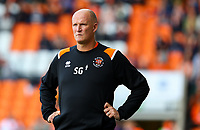 Blackpool manager Simon Grayson watches on from the technical area<br /> <br /> Photographer Alex Dodd/CameraSport<br /> <br /> The EFL Sky Bet League One - Blackpool v MK Dons  - Saturday September 14th 2019 - Bloomfield Road - Blackpool<br /> <br /> World Copyright © 2019 CameraSport. All rights reserved. 43 Linden Ave. Countesthorpe. Leicester. England. LE8 5PG - Tel: +44 (0) 116 277 4147 - admin@camerasport.com - www.camerasport.com