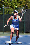 24 April 2016: UNC's Kate Vialle. The University of North Carolina Tar Heels played the University of Miami Hurricanes at the Cary Tennis Center in Cary, North Carolina in the Atlantic Coast Conference Women's Tennis Tournament Championship. North Carolina won the match 4-2.