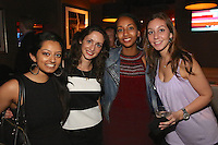Devyani Shenoy, Rachel Schwartz, Menen Missailidis and Janine Solano attend the Happy Groups Launch Party at the Luxe Lounge at Lucky Strike, on May 22 in New York City.
