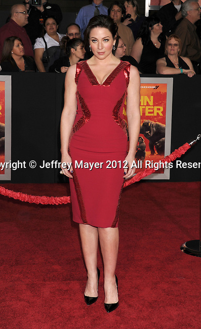 LOS ANGELES, CA - FEBRUARY 22: Lynn Collins attends the 'John Carter' Los Angeles premiere held at the Regal Cinemas L.A. Live on February 22, 2012 in Los Angeles, California.