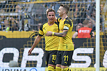 06.10.2018, Signal Iduna Park, Dortmund, GER, DFL, BL, Borussia Dortmund vs FC Augsburg, DFL regulations prohibit any use of photographs as image sequences and/or quasi-video<br /> <br /> im Bild Mario G&ouml;tze / Goetze (#10, Borussia Dortmund) jubelt nach seinem Tor zum 2:1 mit Marco Reus (#11, Borussia Dortmund) <br /> <br /> Foto &copy; nph/Horst Mauelshagen