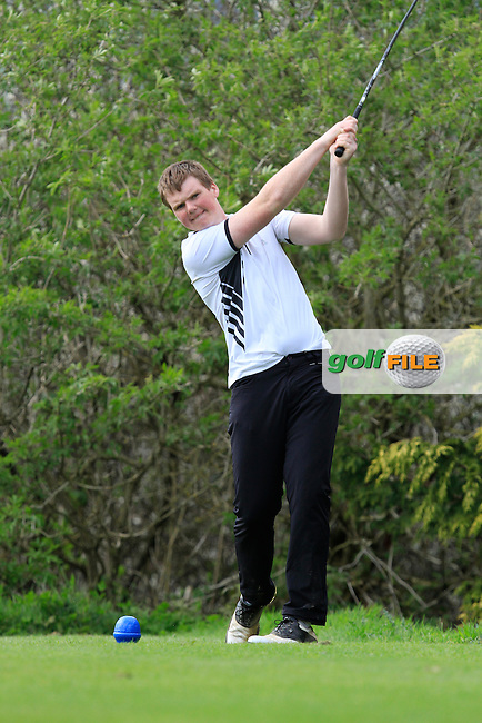 Timmy Broderick (Kinsale) on the 15th tee during Day 1 of The Munster Youths' Amateur Open Championship in Dungarvan Golf Club on Wednesday 23nd April 2014.<br /> Picture:  Thos Caffrey / www.golffile.ie