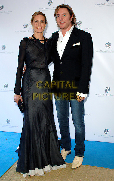 YASMIN & SIMON LE BON.attending the Raisa Gorbachev Foundation Russian Ball, Althorp House, Northamptonshire, England,.10th June 2006..full length lebon black long sleeved dress married husband wife jeans.Ref: BEL.www.capitalpictures.com.sales@capitalpictures.com.©Tom Belcher/Capital Pictures.