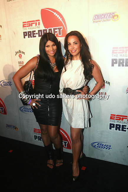 Pepa of Salt-N-Pepa and Joumana Kidd Attend ESPN The Magazine's Eighth Annual Pre-Draft Party, at ESPACE Featuring Music Provided by ?uestLove, New York  4/27/11