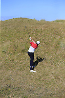 Ruaidhri McGee (IRL) duffs his 2nd shot from the rough on the 3rd hole during Friday's Round 2 of the 2018 Dubai Duty Free Irish Open, held at Ballyliffin Golf Club, Ireland. 6th July 2018.<br /> Picture: Eoin Clarke | Golffile<br /> <br /> <br /> All photos usage must carry mandatory copyright credit (&copy; Golffile | Eoin Clarke)