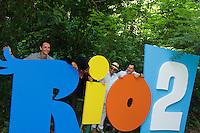 RIO DE JANEIRO, RJ, 17.03.2014 - Rodrigo Santoro  participar nesta segunda-feira na coletiva de imprensa que apresenta o lançamento do filme de animação Rio 2, no Parque Lage, zona sul da cidade. (Foto. Néstor J. Beremblum / Brazil Photo Press)