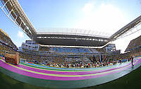 A general view of the Itaquerao stadium during the opening ceremony of the 2014 FIFA World Cup
