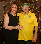 Bethlehem, CT-021619MK06 Maryann Zarrella and Rip Henley, secretary, gathered at the Loins Club's Snow Dance fundraiser in Bethlehem.  The third annual event is the club's biggest fund raiser of the year with proceeds going toward local high school scholarships, funds for the local EMS and to the international campaign serving Individuals sight and hearing impairments. Michael Kabelka / Republican-American.