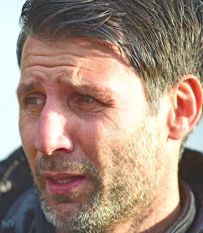 Lincoln City manager Danny Cowley during the pre-match warm-up<br /> <br /> Photographer Andrew Vaughan/CameraSport<br /> <br /> The EFL Sky Bet League Two - Lincoln City v Mansfield Town - Saturday 24th November 2018 - Sincil Bank - Lincoln<br /> <br /> World Copyright © 2018 CameraSport. All rights reserved. 43 Linden Ave. Countesthorpe. Leicester. England. LE8 5PG - Tel: +44 (0) 116 277 4147 - admin@camerasport.com - www.camerasport.com