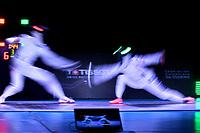 BOGOTA – COLOMBIA – 28 – 05 – 2017: Man Wai Vivian Kong (Izq.) de Hong Kong, combate con Alberta Santuccio (Der.) de Italia, durante las Semifinales Damas Mayores Epee del Gran Prix de Espada Bogota 2017, que se realiza en el Centro de Alto Rendimiento en Altura, del 26 al 28 de mayo del presente año en la ciudad de Bogota.  / Man Wai Vivian Kong (L) from Hong Kong, with Alberta Santuccio (R) from Italy, during Semi Finals Senior Women´s Epee of the Grand Prix of Espada Bogota 2017, that takes place in the Center of High Performance in Height, from the 26 to the 28 of May of the present year in The city of Bogota.  / Photo: VizzorImage / Luis Ramirez / Staff.