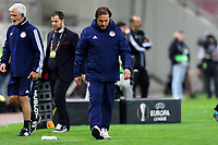 12th March 2020, Pireas, Greece; Europa League football, Olympiakos versus Wolves;   Trainer Pedro Martins Olympiakos leaves the field