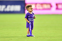 Orlando, FL - Saturday July 07, 2018: Sydney Leroux's son during the second half of a regular season National Women's Soccer League (NWSL) match between the Orlando Pride and the Washington Spirit at Orlando City Stadium. Orlando defeated Washington 2-1.