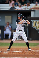 UCF Knights designated hitter Chandler Robertson (22) at bat during a game against the Siena Saints on February 17, 2019 at John Euliano Park in Orlando, Florida.  UCF defeated Siena 7-1.  (Mike Janes/Four Seam Images)