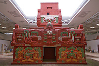 Replica of the Rosalila temple in the Copan Sculpture Museum at the Mayan ruins of Copan, Honduras.