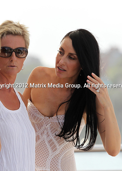 22/1/2012. Sydney, Australia...EXCLUSIVE..Anthony Minichello & new wife Terry Biviano Celebrate their marriage with friends on the harbour. Pictured at Rose Bay wharf..*No internet without clearance*.MUST CALL PRIOR TO USE ..02 9211-1088.Matrix Media Group.Note: All editorial images subject to the following: For editorial use only. Additional clearance required for commercial, wireless, internet or promotional use.Images may not be altered or modified. Matrix Media Group makes no representations or warranties regarding names, trademarks or logos appearing in the images.